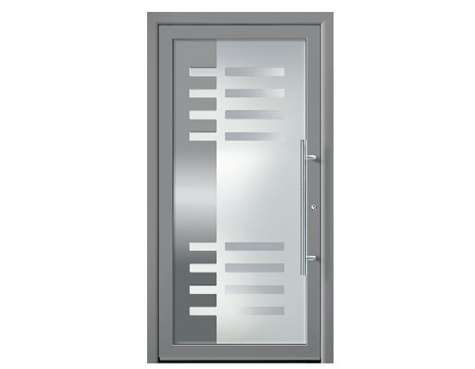 aluminium haust r groke t ren t r hauseingangst r. Black Bedroom Furniture Sets. Home Design Ideas